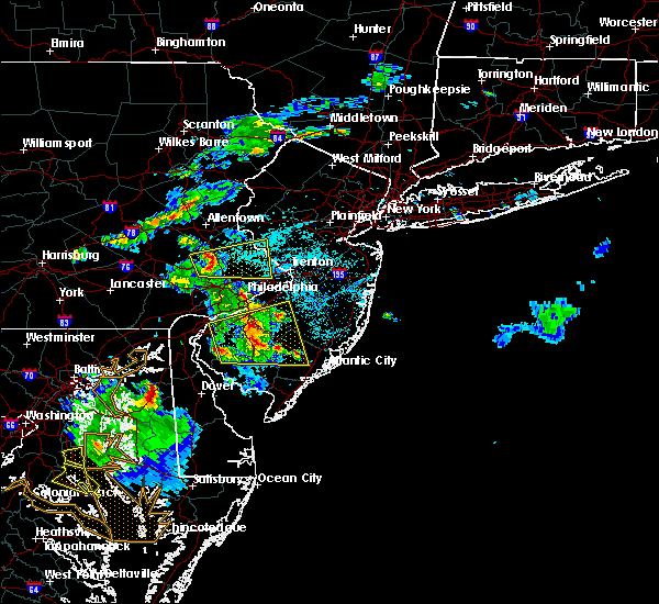 Radar Image for Severe Thunderstorms near Clayton, NJ at 6/2/2019 7:35 PM EDT
