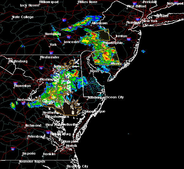Radar Image for Severe Thunderstorms near Dover, DE at 6/2/2019 7:39 PM EDT