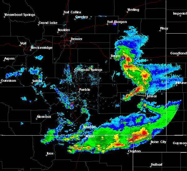 Radar Image for Severe Thunderstorms near Wiley, CO at 6/2/2019 6:21 PM MDT