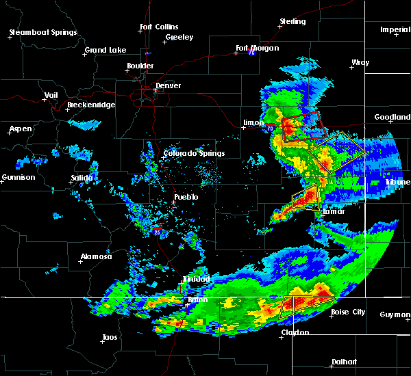 Radar Image for Severe Thunderstorms near Wiley, CO at 6/2/2019 6:35 PM MDT