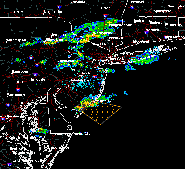 Radar Image for Severe Thunderstorms near Sea Isle City, NJ at 6/16/2015 3:56 PM EDT