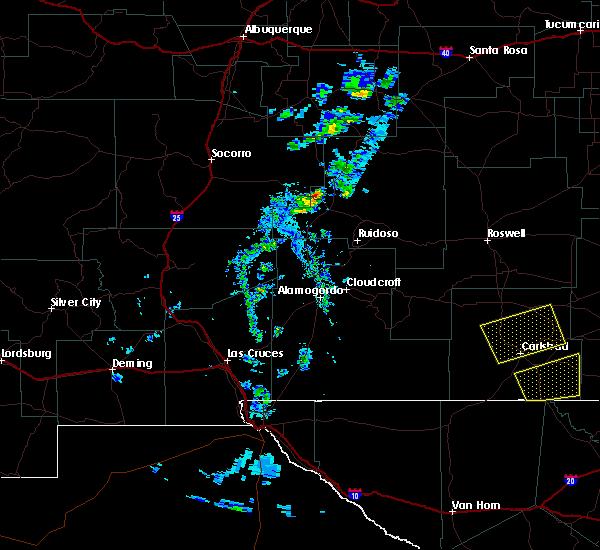 Radar Image for Severe Thunderstorms near Livingston Wheeler, NM at 6/3/2019 7:44 PM MDT