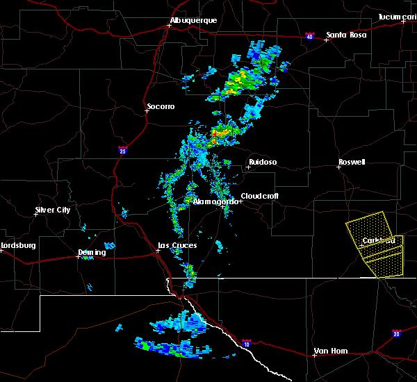 Radar Image for Severe Thunderstorms near Livingston Wheeler, NM at 6/3/2019 8:01 PM MDT