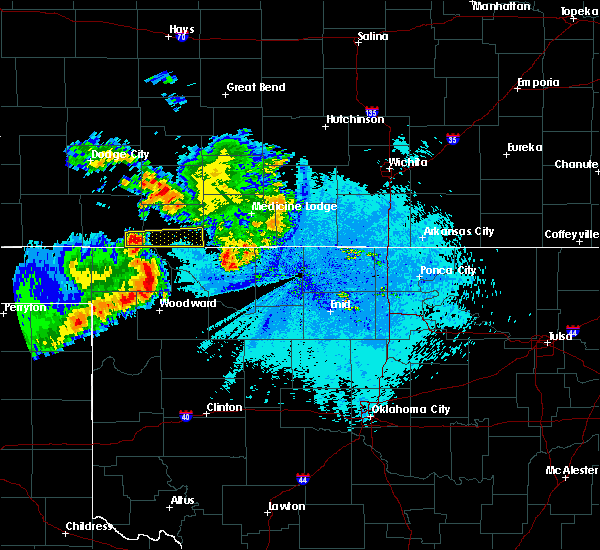 Radar Image for Severe Thunderstorms near Woodward, OK at 6/4/2019 12:36 AM CDT
