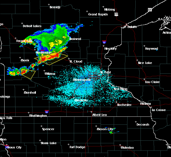 Radar Image for Severe Thunderstorms near Montevideo, MN at 6/4/2019 1:24 PM CDT