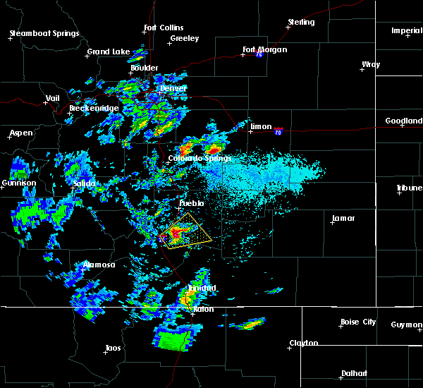 Radar Image for Severe Thunderstorms near Colorado City, CO at 6/4/2019 1:12 PM MDT
