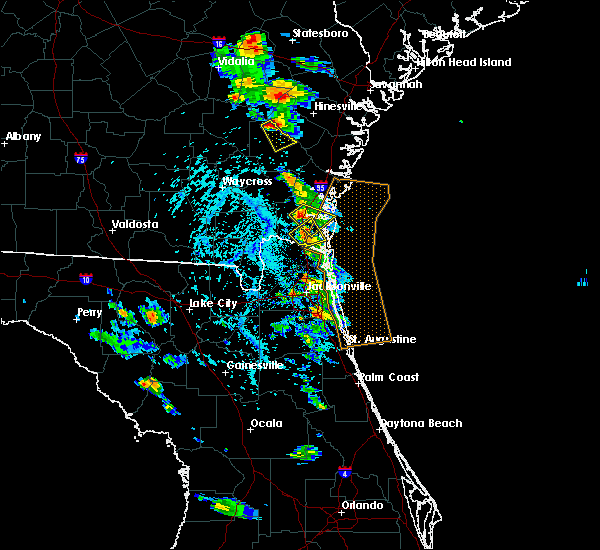 Radar Image for Severe Thunderstorms near Jesup, GA at 6/4/2019 3:16 PM EDT