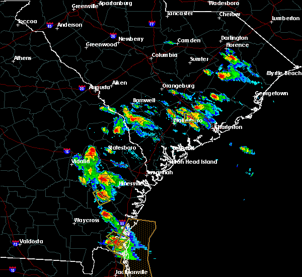 Radar Image for Severe Thunderstorms near Ludowici, GA at 6/4/2019 3:28 PM EDT