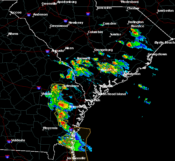Radar Image for Severe Thunderstorms near Ludowici, GA at 6/4/2019 3:38 PM EDT