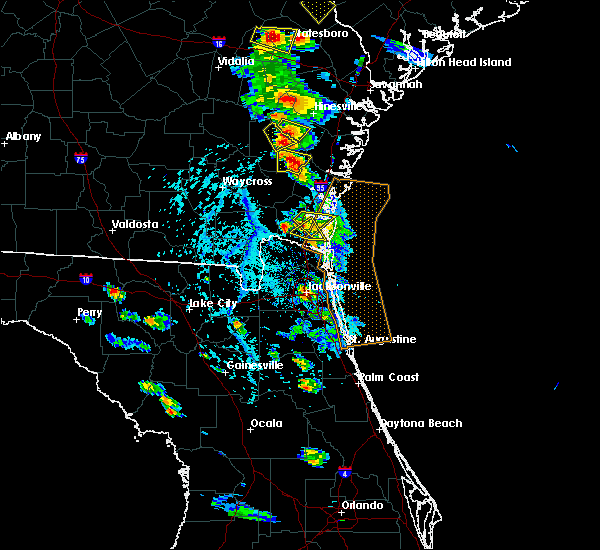 Radar Image for Severe Thunderstorms near Jesup, GA at 6/4/2019 3:43 PM EDT