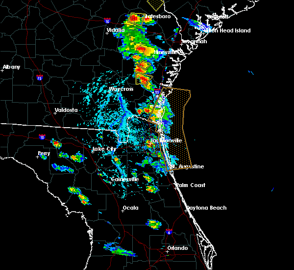 Radar Image for Severe Thunderstorms near Ludowici, GA at 6/4/2019 3:49 PM EDT