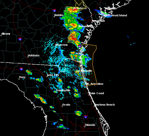 Radar Image for Severe Thunderstorms near Jesup, GA at 6/4/2019 3:59 PM EDT