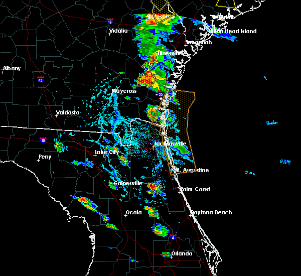 Radar Image for Severe Thunderstorms near East Palatka, FL at 6/4/2019 4:15 PM EDT