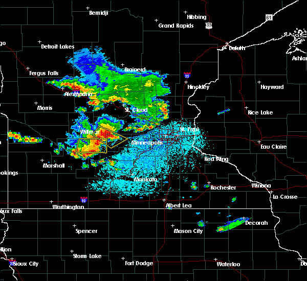 Radar Image for Severe Thunderstorms near Hector, MN at 6/4/2019 3:20 PM CDT