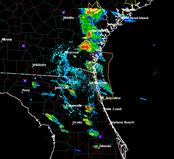 Radar Image for Severe Thunderstorms near East Palatka, FL at 6/4/2019 4:24 PM EDT