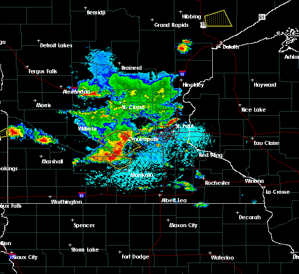 Radar Image for Severe Thunderstorms near Lafayette, MN at 6/4/2019 4:01 PM CDT