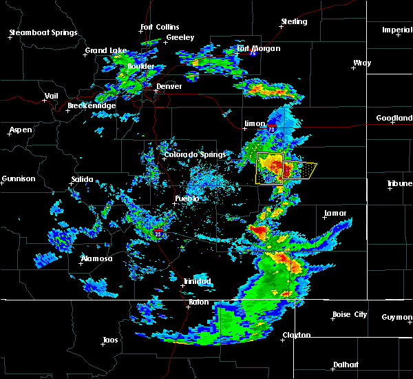 Radar Image for Severe Thunderstorms near Kit Carson, CO at 6/4/2019 3:59 PM MDT