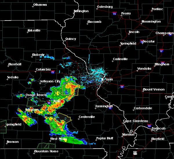 Radar Image for Severe Thunderstorms near Miramiguoa Park, MO at 6/4/2019 5:40 PM CDT