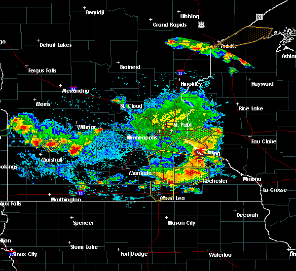 Radar Image for Severe Thunderstorms near Dennison, MN at 6/4/2019 5:45 PM CDT