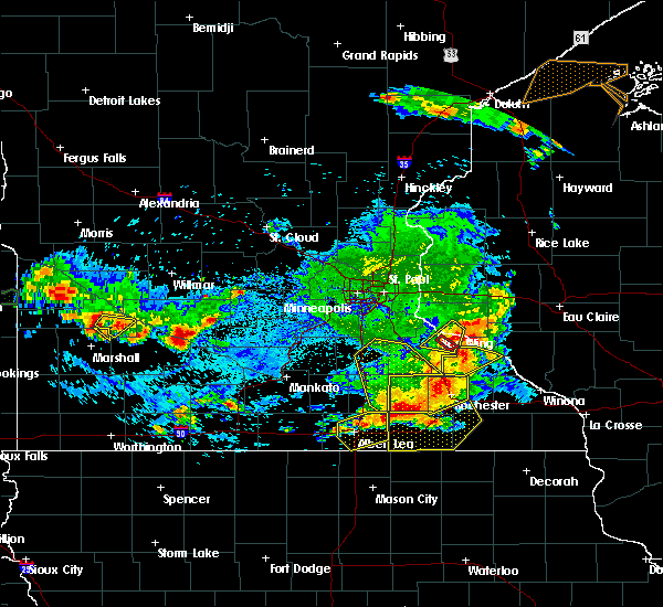 Radar Image for Severe Thunderstorms near Glenville, MN at 6/4/2019 5:56 PM CDT