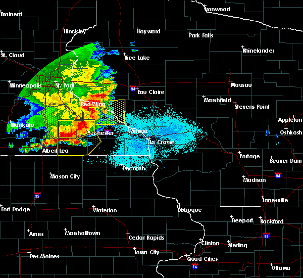 Radar Image for Severe Thunderstorms near Elgin, MN at 6/4/2019 6:01 PM CDT