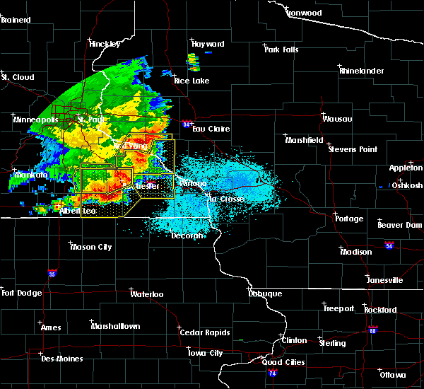 Radar Image for Severe Thunderstorms near Elgin, MN at 6/4/2019 6:07 PM CDT