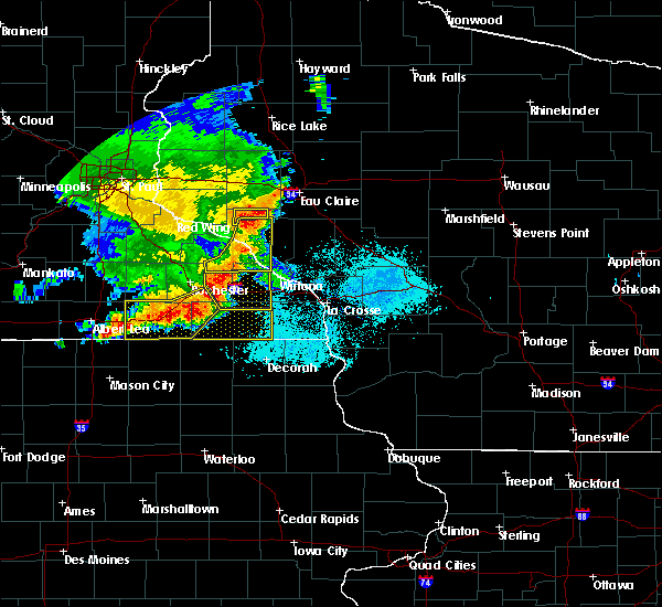 Radar Image for Severe Thunderstorms near Elgin, MN at 6/4/2019 6:29 PM CDT