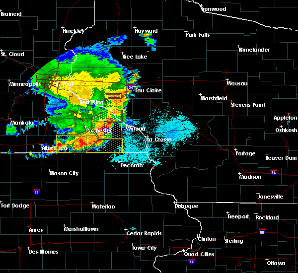 Radar Image for Severe Thunderstorms near Mapleview, MN at 6/4/2019 6:42 PM CDT