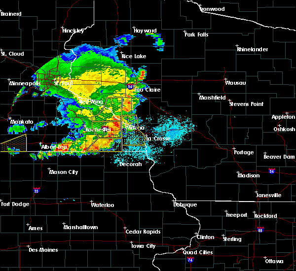 Radar Image for Severe Thunderstorms near Elgin, MN at 6/4/2019 6:55 PM CDT