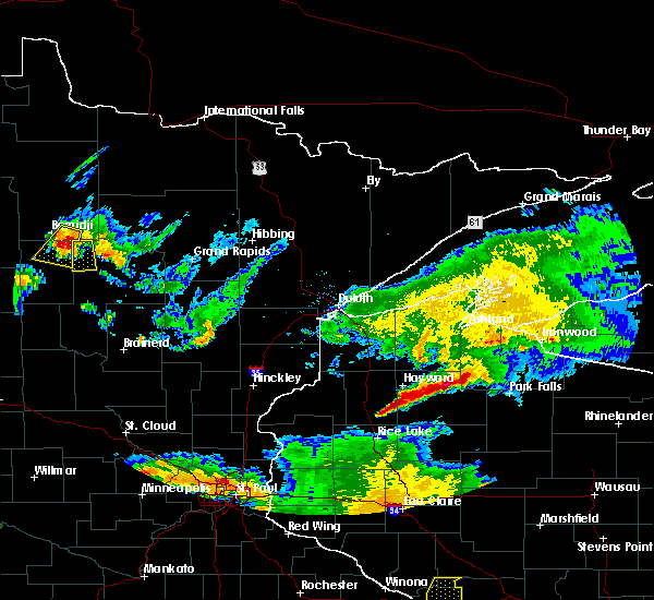Radar Image for Severe Thunderstorms near Cass Lake, MN at 6/4/2019 7:55 PM CDT