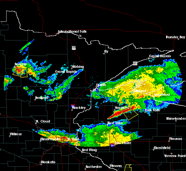 Radar Image for Severe Thunderstorms near Laporte, MN at 6/4/2019 8:04 PM CDT