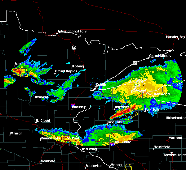 Radar Image for Severe Thunderstorms near Laporte, MN at 6/4/2019 8:08 PM CDT