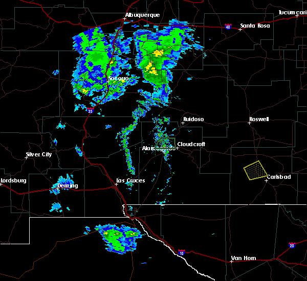 Radar Image for Severe Thunderstorms near Livingston Wheeler, NM at 6/4/2019 7:08 PM MDT