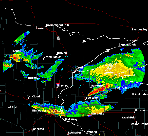 Radar Image for Severe Thunderstorms near Cass Lake, MN at 6/4/2019 8:12 PM CDT