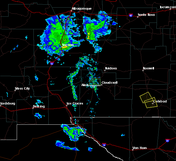 Radar Image for Severe Thunderstorms near Happy Valley, NM at 6/4/2019 7:31 PM MDT