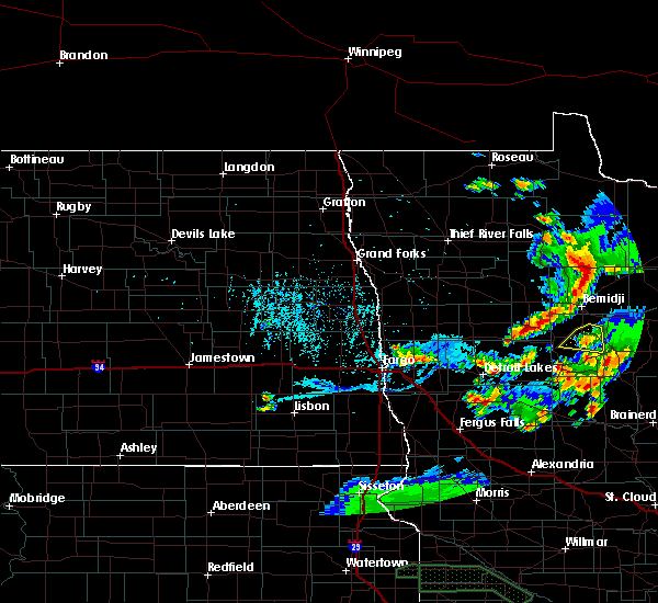Radar Image for Severe Thunderstorms near Lake George, MN at 6/4/2019 8:54 PM CDT