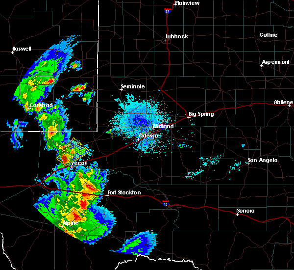 Radar Image for Severe Thunderstorms near Mentone, TX at 6/4/2019 8:54 PM CDT