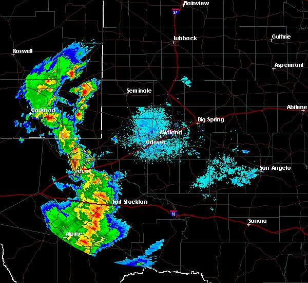 Radar Image for Severe Thunderstorms near Mentone, TX at 6/4/2019 9:18 PM CDT