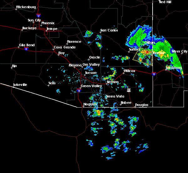 Radar Image for Severe Thunderstorms near Duncan, AZ at 6/16/2015 4:10 PM MST