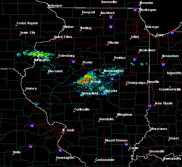 Radar Image for Severe Thunderstorms near Lincoln, IL at 6/5/2019 11:54 AM CDT