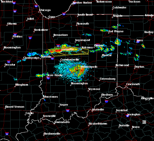 Radar Image for Severe Thunderstorms near Mulberry, IN at 6/5/2019 2:31 PM EDT