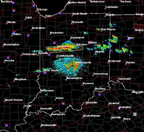 Radar Image for Severe Thunderstorms near Mulberry, IN at 6/5/2019 2:48 PM EDT