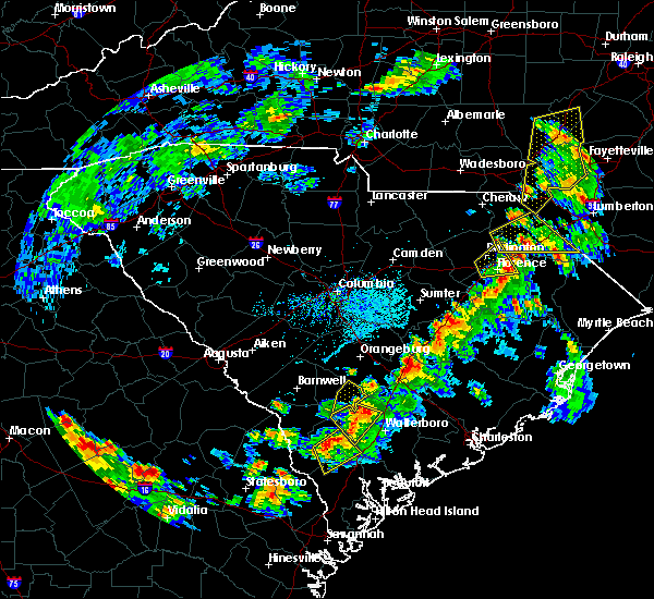 Radar Image for Severe Thunderstorms near Quinby, SC at 6/5/2019 3:30 PM EDT