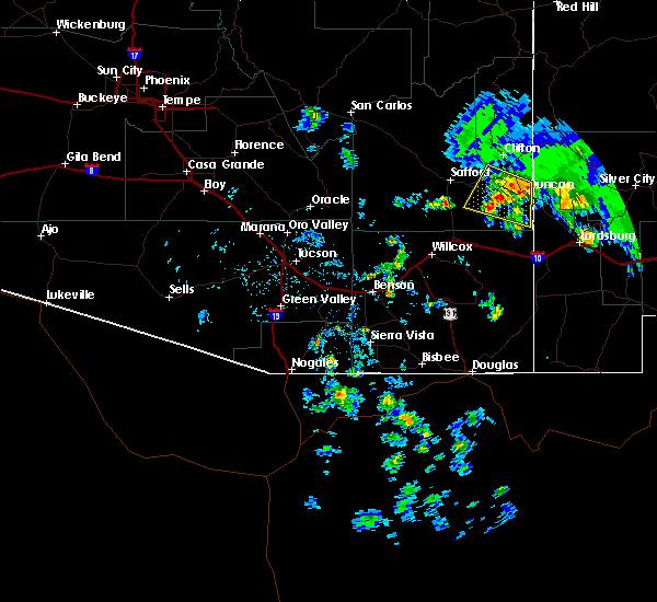 Radar Image for Severe Thunderstorms near Duncan, AZ at 6/16/2015 4:19 PM MST