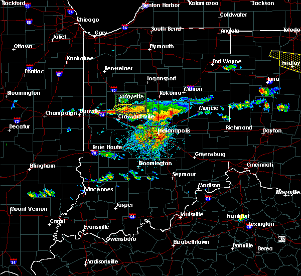 Radar Image for Severe Thunderstorms near Crawfordsville, IN at 6/5/2019 3:52 PM EDT