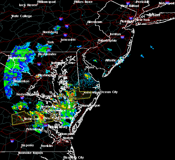 Radar Image for Severe Thunderstorms near Parsonsburg, MD at 6/5/2019 4:05 PM EDT