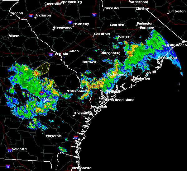 Radar Image for Severe Thunderstorms near Yemassee, SC at 6/5/2019 4:26 PM EDT