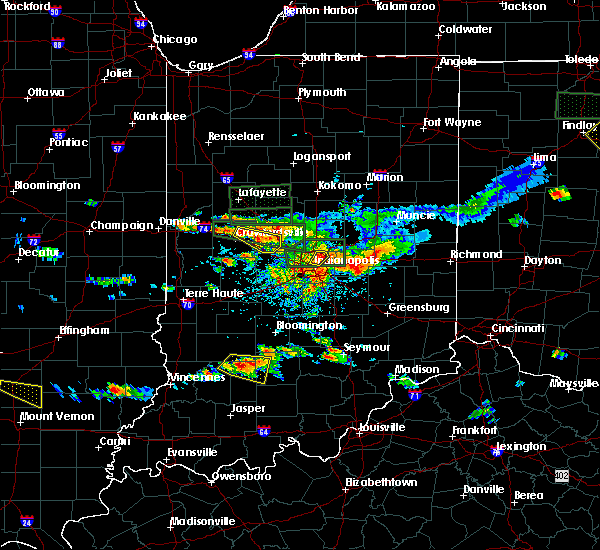 Radar Image for Severe Thunderstorms near Indianapolis, IN at 6/5/2019 4:35 PM EDT
