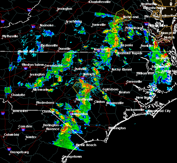Radar Image for Severe Thunderstorms near Angier, NC at 6/5/2019 4:35 PM EDT