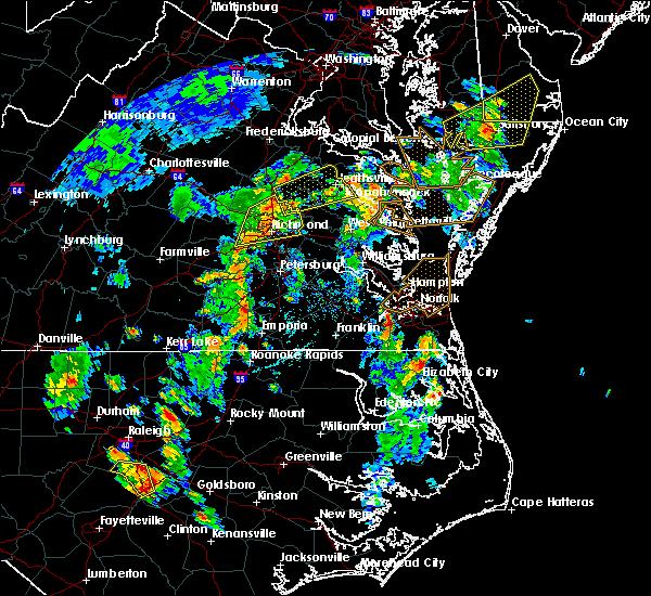 Radar Image for Severe Thunderstorms near Tappahannock, VA at 6/5/2019 4:38 PM EDT
